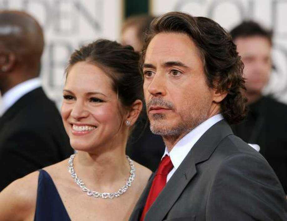 EXTON ELIAS Producer Susan Downey and actor Robert Downey Jr. became parents on Feb. 7. The actor later revealed that he was in trouble with his wife for letting it slip in advance that she was going to have a boy. Photo: Frazer Harrison, Getty Images