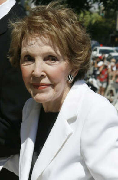 Former first lady Nancy Reagan