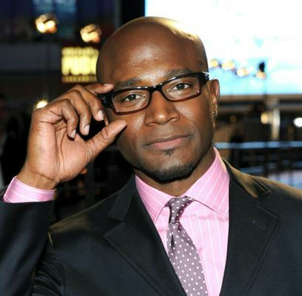 It takes finesse to pull off the pink, but Taye Diggs does it in style.