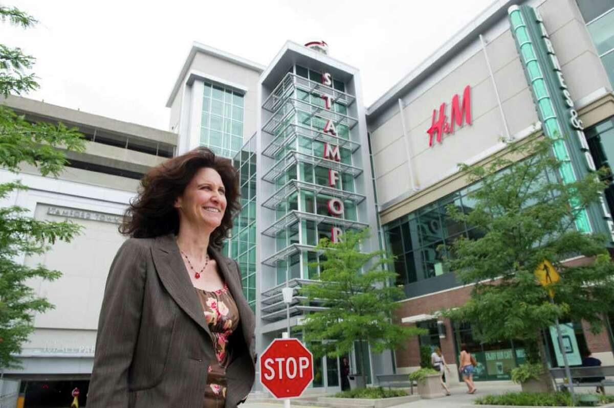Stamford Town Center General Manager Colleen Dunn in front of the mall in Stamford, Conn., July 28, 2011.