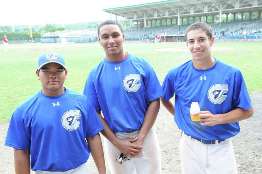 Greenwich residents Cameron Fennell, Matthew Tate and Vincent Ferraro are members of Team Connecticut Blue Jaysí 15U team that is competing in the AAU National Underclassmen Baseball Tournament this week. The trio were members of the Blue Jaysí 14U team that captured the Continental Amateur Baseball Association World Series title last summer. Photo: Contributed Photo