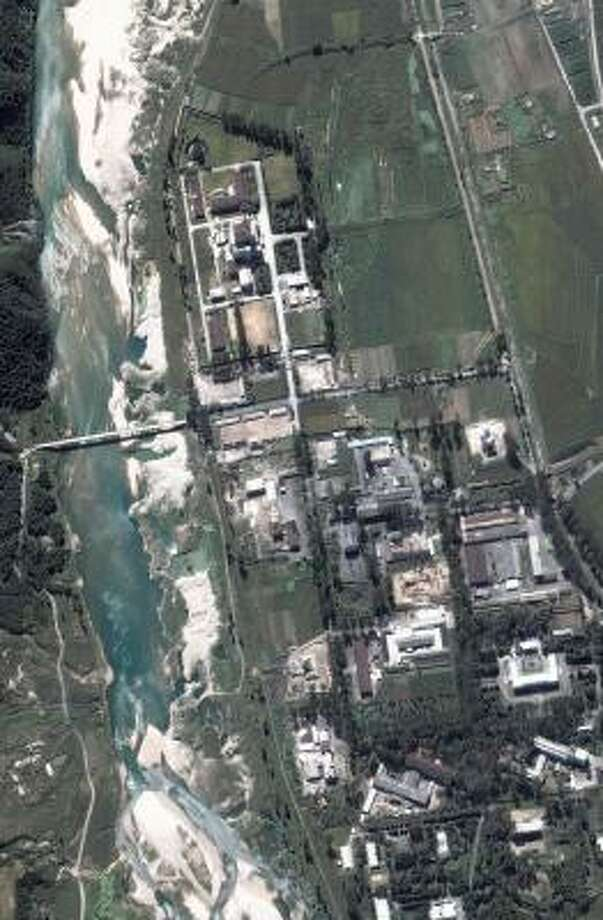 This satellite image shot in September 2005 shows the reactor site in Yongbyon, 60 miles north of Pyongyang, North Korea's capital. Photo: DIGITALGLOBE, AFP/GETTY