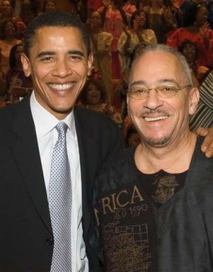 Democratic presidential candidate Sen. Barack Obama, D-Ill., left, has denounced the controversial remarks of the Rev. Jeremiah Wright. Wright will preach Sunday, March 30 at Houston's Wheeler Avenue Baptist Church. Photo: AP