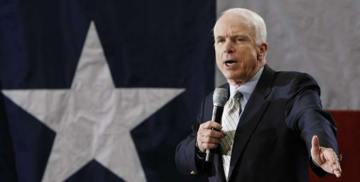 Although Texas is known as a Republican stronghold, Sen. John McCain is behind the Democrats in fundraising in the state.