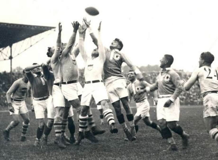 Rugby union debuted at the 1900 Paris games. It was subsequently featured at the London games in 1908, the Antwerp games in 1920 and the Paris games in 1924. The IOC dropped rugby union as an Olympic sport shortly after the 1924 games. Photo: UNITED STATES OLYMPIC COMMITTEE PHOTO ARCHIVE, AP