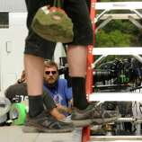 """Crews get ready for filming on the set of """"The Place Beyond The Pines"""" off Route 5 in Glenville, NY Thursday July 28,2011.( Michael P. Farrell/Times Union)"""