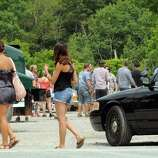 """The set of """"The Place Beyond The Pines"""" off Route 5 in Glenville, NY Thursday July 28,2011.( Michael P. Farrell/Times Union)"""
