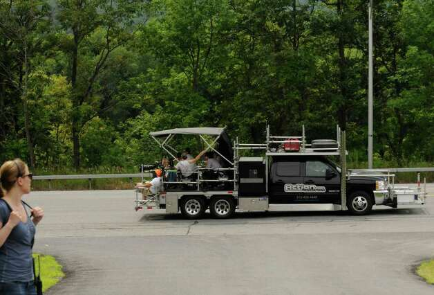 "A camera truck filming on the set of ""The Place Beyond The Pines"" on Route 5 in Glenville, NY Thursday July 28,2011.( Michael P. Farrell/Times Union) Photo: Michael P. Farrell"