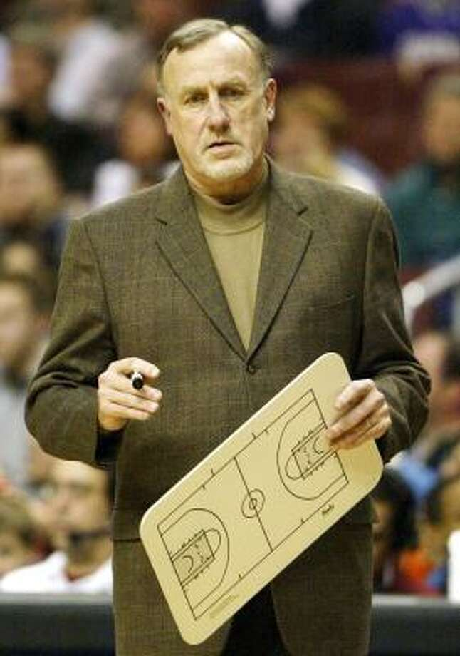 Rick Adelman, who has made coaching stops in Portland, Golden State and Sacramento, will be drawing up plays for Yao Ming and Tracy McGrady next season. Photo: RUSTY KENNEDY, AP