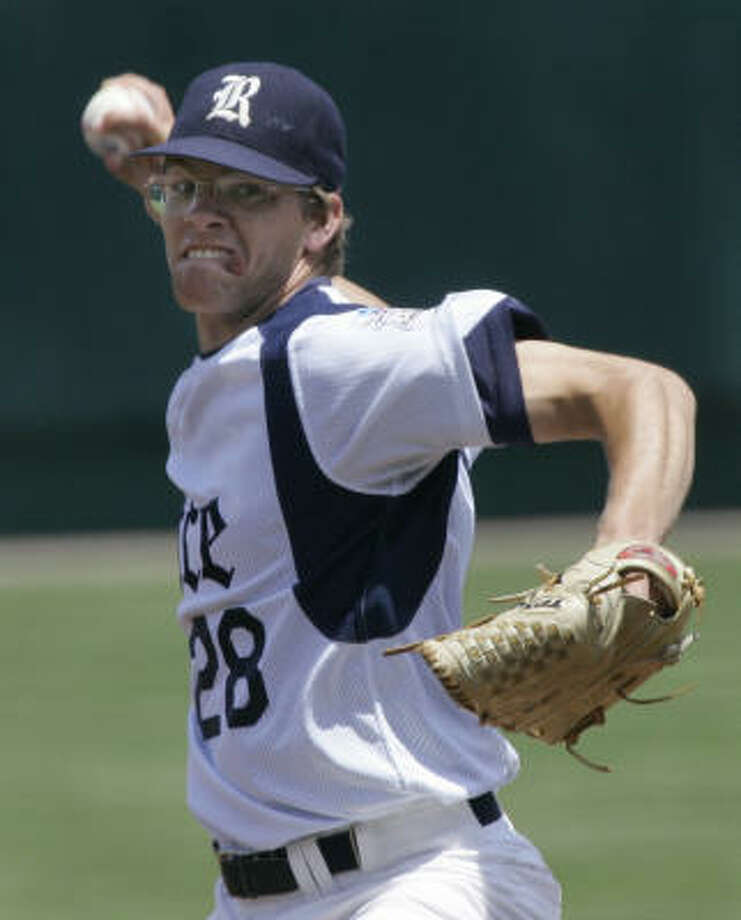 Rice pitcher Ryan Berry (shown in the 2007 CWS) is 18-7 with a 3.05 ERA in his two seasons at Rice, averaging 8.7 strikeouts and only 2.5 walks per nine innings. Photo: Nati Harnik, AP