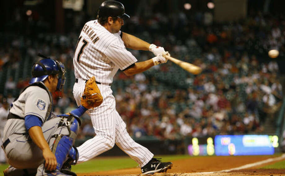 Lance Berkman will take part in the Home Run Derby on July 14 at Yankee Stadium. Photo: Steve Ueckert, Chronicle