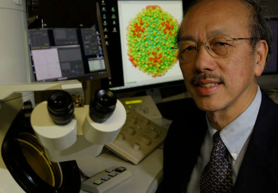 Baylor molecular biologist Wah Chiu is leading a research consortium that will receive $10 million over the next couple of years from the National Institutes of Health. Photo: Melissa Phillip, Chronicle