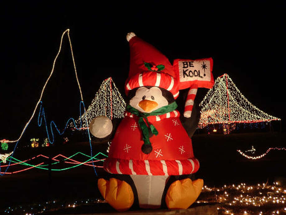 See 1.5 million Christmas lights on the mile-long drive through Santa's Ranch in the Hill Country. Photo: SANTA'S RANCH