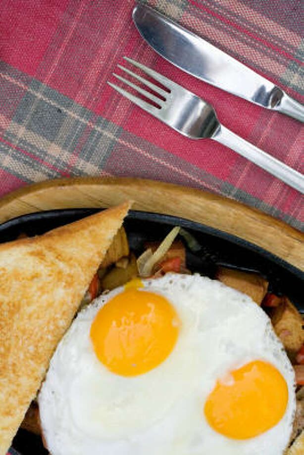Look on the sunny side: eggs all day. Photo: NATALIE BEHRING:, BLOOMBERG NEWS