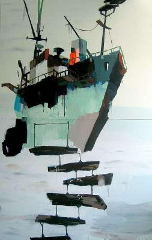 Flying Trawlerby Mie Olise Kjaergaard is on view at Barbara Davis Gallery through Saturday. Photo: BARBARA DAVIS GALLERY