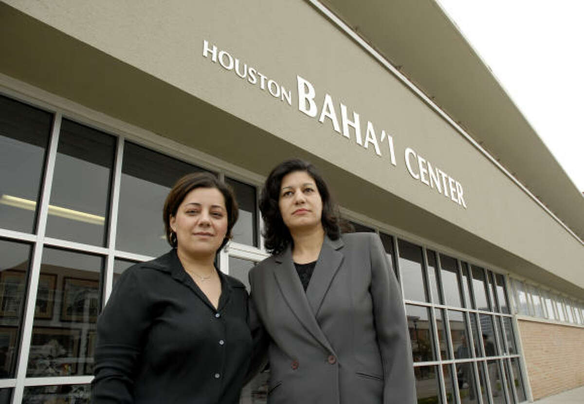 Elham Abbassi, left, and Gitti Bahar fled persecution in Iran and both completed their education here — an important goal among members of the Bahai Faith.