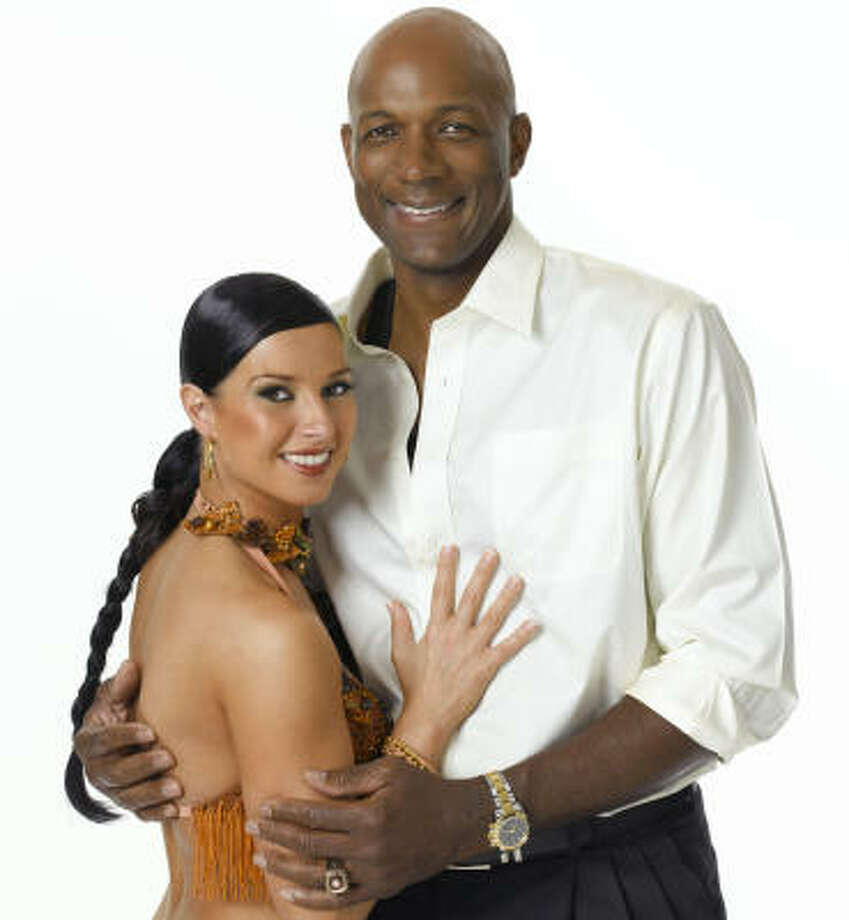 Elena Grinenko and Clyde Drexler join forces in Dancing With the Stars. Photo: JAMES SORENSEN, ABC
