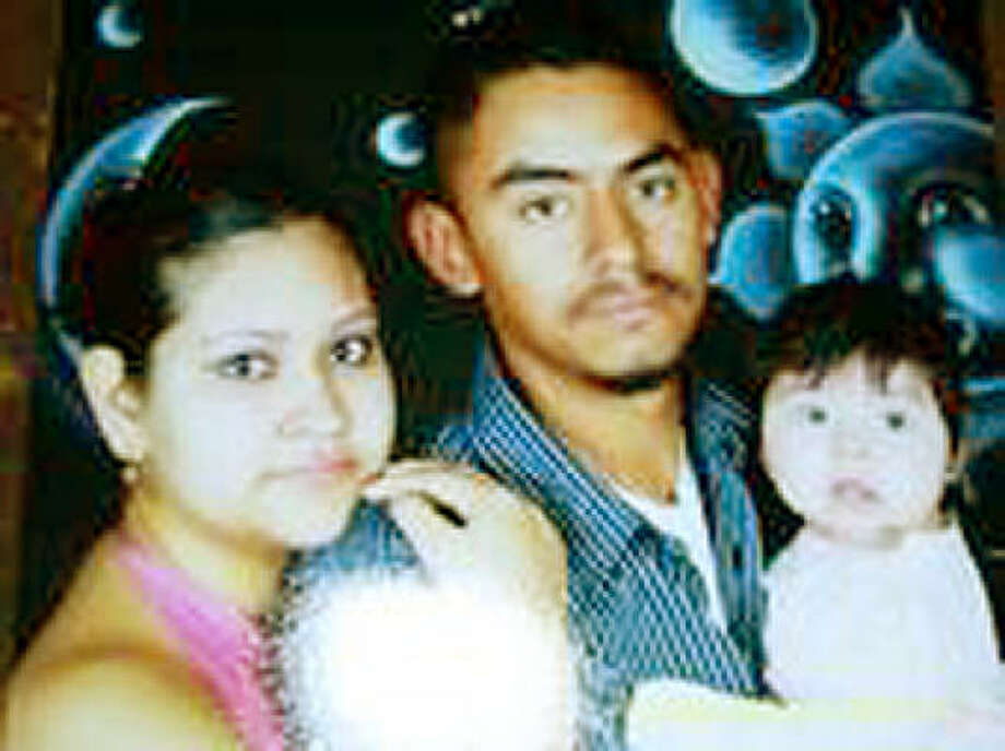 Sintya Riojas, Jesus Renovato and their daughter Jacklyn are shown in a family photograph. Injured in a Gulf Freeway wreck early Sunday morning, Riojas died at Ben Taub General Hospital as her baby girl was delivered by Cesarean section. Photo: Family Photo