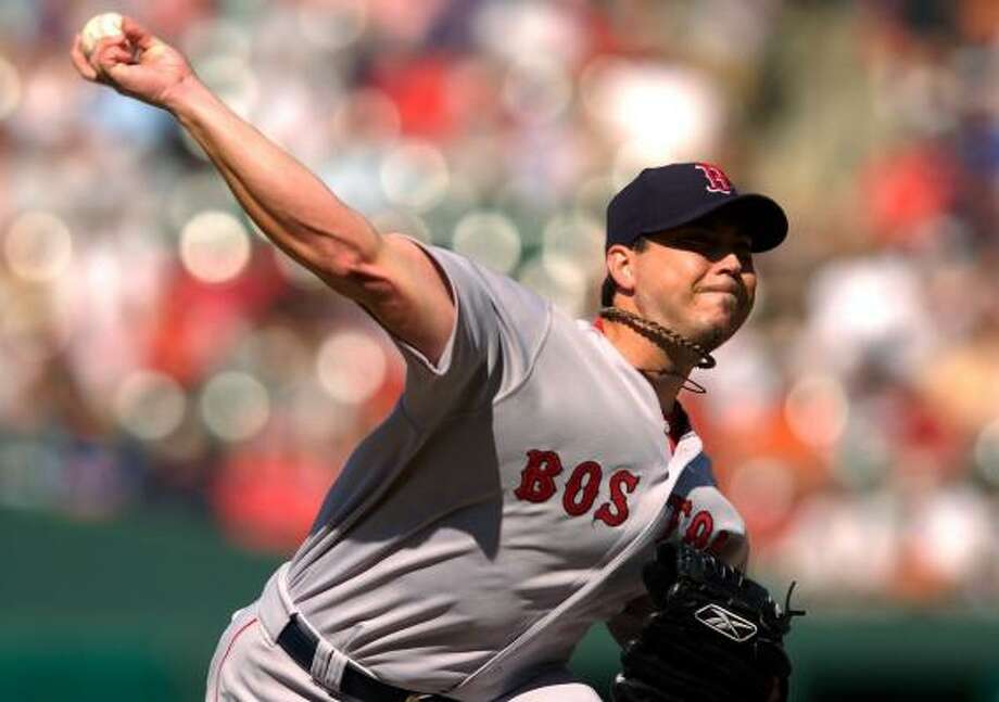 Spring's Josh Beckett became the majors' first 15-game winner of 2007, pitching the Red Sox past the Orioles. Photo: GREG FIUME, GETTY IMAGES