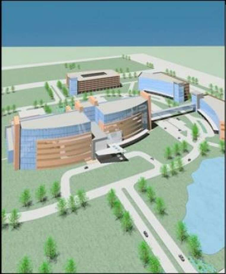 This is an architect's rendering of the proposed Texas Children's Hospital campus in west Houston. Photo: Texas Children's Hospital, Submitted Photo