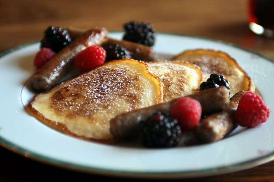 AN APPLE A DAY:Keep hunger away with this Cottage Pancakes recipe that calls for one apple peeled, cored and grated. Photo: Jahi Chikwendiu, Washington Post
