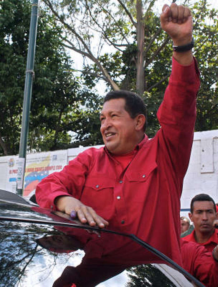 Among the more controversial constitutional reforms proposed by Venezuelan president Hugo Chavez is a measure to scrap his two-term limit. Photo: MARCELO GARCIA, AFP/Getty Images