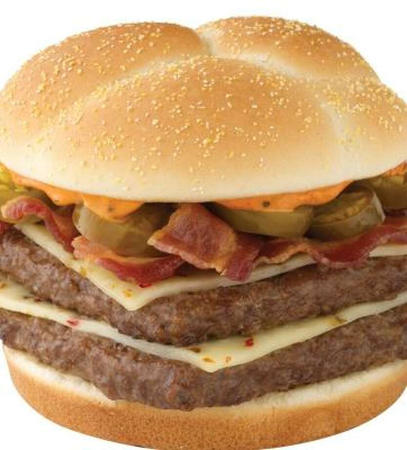 Jalapeños and pepper jack are featured ingredients on Wendy's Spicy Baconator.