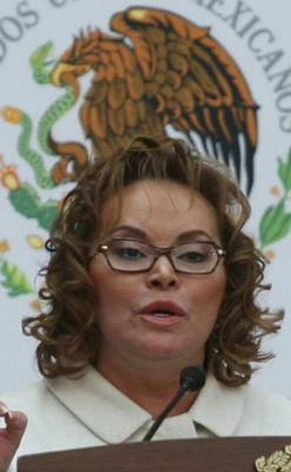 Elba Esther Gordillo, head of Mexico's teacher's union, is the nation's most powerful woman. Photo: FOR THE CHRONICLE