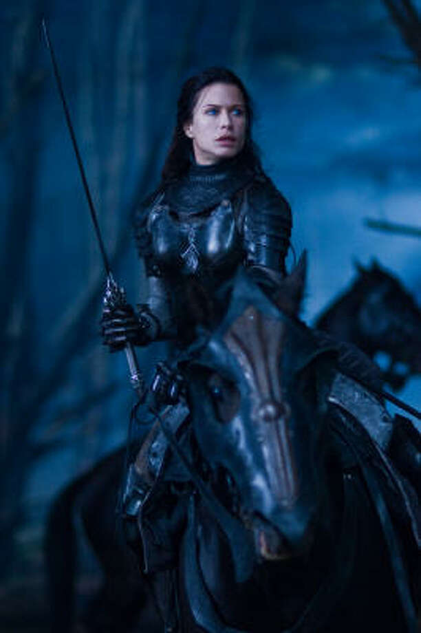 Rhona Mitra, above, stars in Underworld: Rise of the Lycans. Photo: Ken George