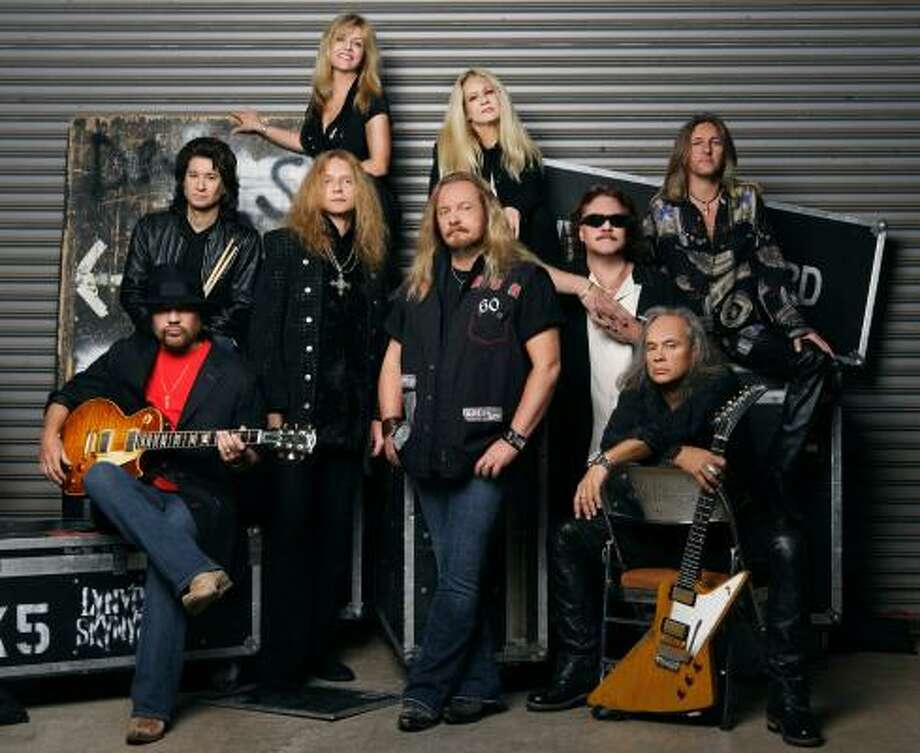 In this image released by Universal Records, the southern rock band Lynyrd Skynyrd poses for a promotional photo. Keyboard player Billy Powell, third from right, wearing glasses, died at his northeast Florida home on Wednesday. He was 56. Photo: Associated Press