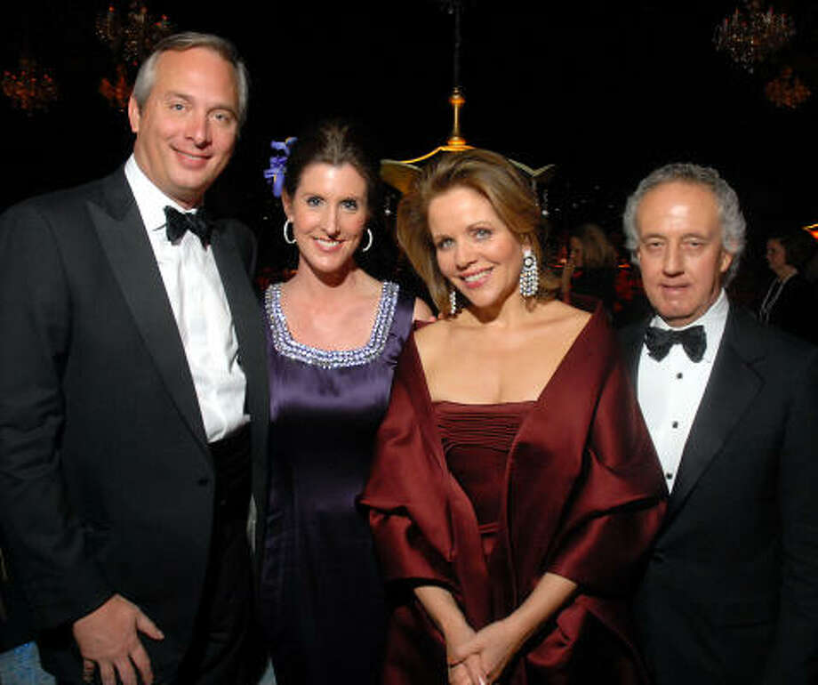 Shepherd School Opera Gala chairs Bobby and Phoebe Tudor, from left, shared the spotilght at the Rice University soirée with opera star Renée Fleming and Shepherd School dean Robert Yekovich. Photo: Dave Rossman, For The Chronicle