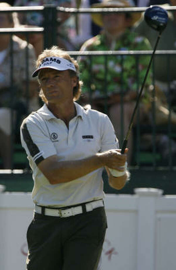 Bernhard Langer won the three-round Administaff by two strokes over Lonnie Nielsen. Photo: Karen Warren, Chronicle
