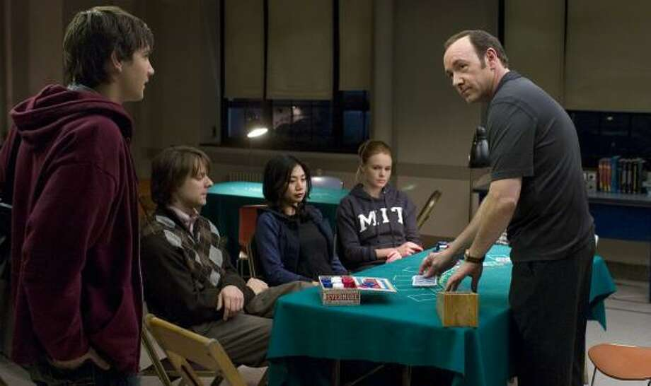 Jim Sturgess, from left, Jacob Pitts, Liza Lapira, Kate Bosworth and Kevin Spacey star in 21. Photo: Peter Iovino, Associated Press