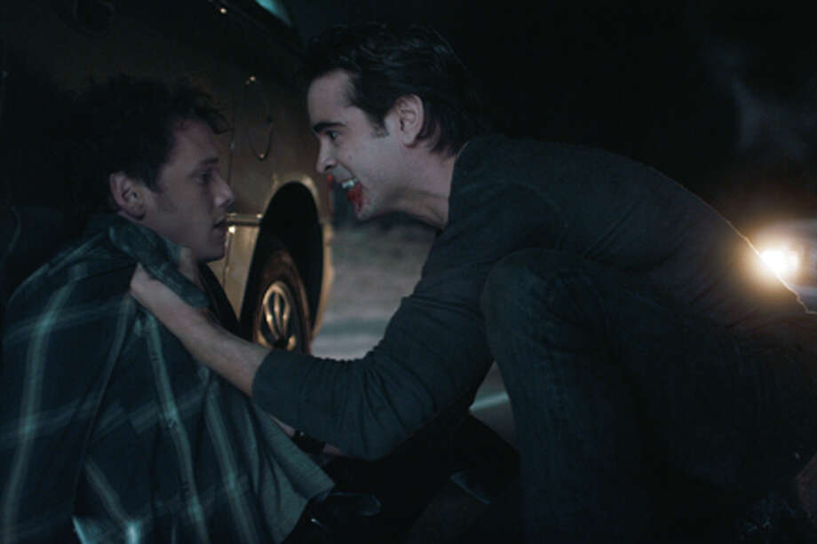 "(L-R) Anton Yelchin as Charley and Colin Farrell as Jerry in ""Fright Night."" / ©DreamWorks II Distribution Co., LLC.  All Rights Reserved."