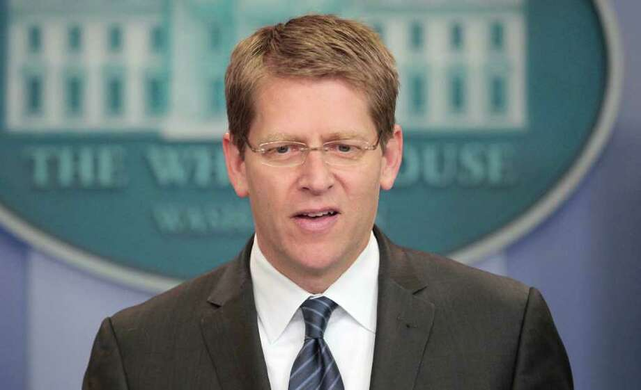 White House Press Secretary Jay Carney speaks during daily news briefing at the White House in Washington, Thursday, July, 28, 2011. Photo: AP