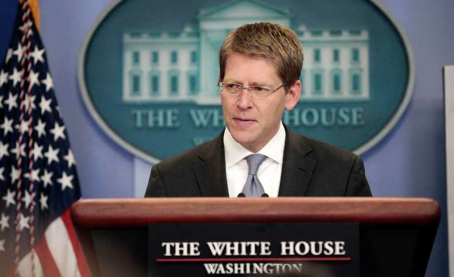 White House Press Secretary Jay Carney speaks during his daily news briefing at the White House in Washington, Wednesday, July, 27, 2011. Photo: AP