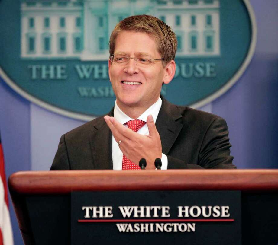 White House Press Secretary Jay Carney during his daily news briefing at the White House in Washington, Wednesday, July, 20, 2011. Photo: AP