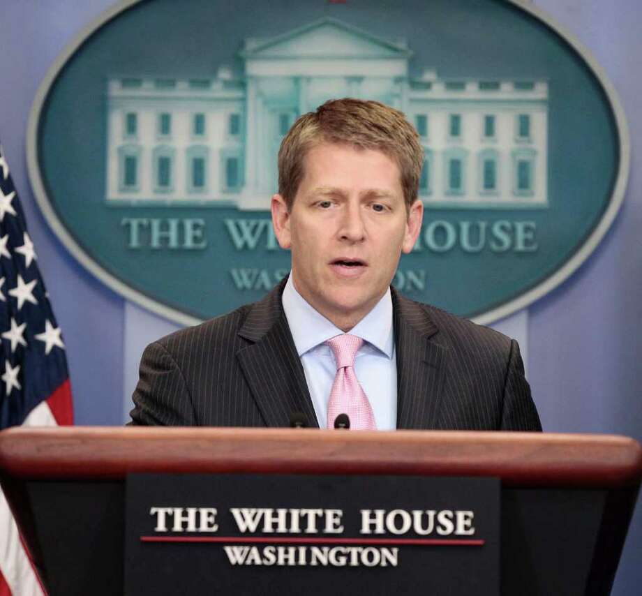 White House Press Secretary Jay Carney speaks during his daily news briefing at the White House in Washington, Monday, July, 18, 2011. Photo: AP