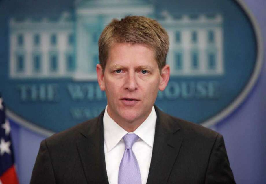 White House Press Secretary Jay Carney speaks during his daily news briefing at the White House in Washington, Wednesday, July, 13, 2011. Photo: AP