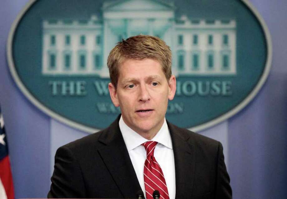 White House Press Secretary Jay Carney speaks during his daily news briefing at the White House in Washington, Tuesday, July, 12, 2011. Photo: AP