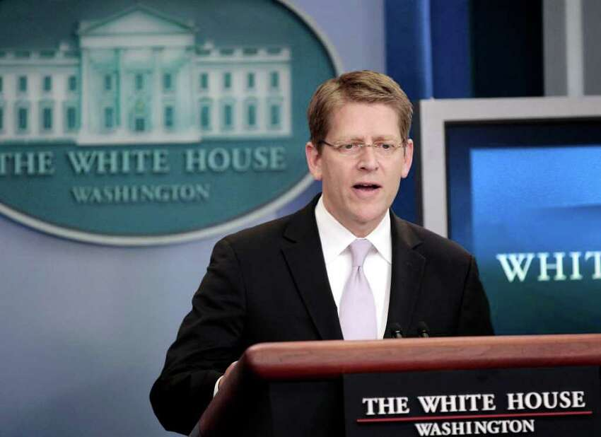 White House Press Secretary Jay Carney speaks during his daily news briefing at the White House in Washington, Thursday, June, 30, 2011.