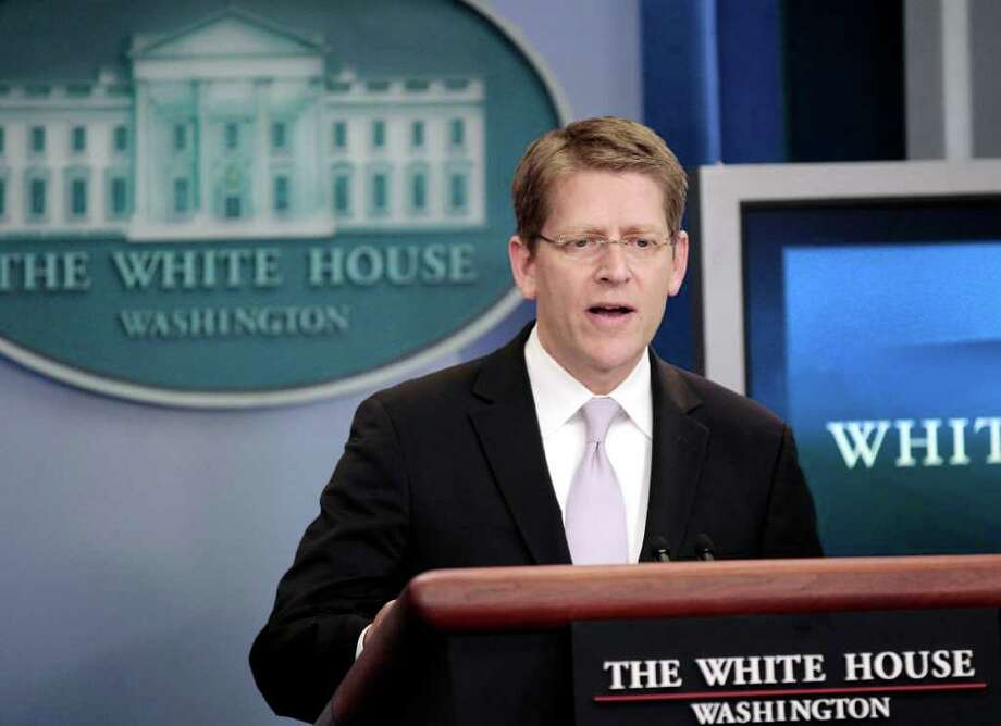 White House Press Secretary Jay Carney speaks during his daily news briefing at the White House in Washington, Thursday, June, 30, 2011. Photo: AP