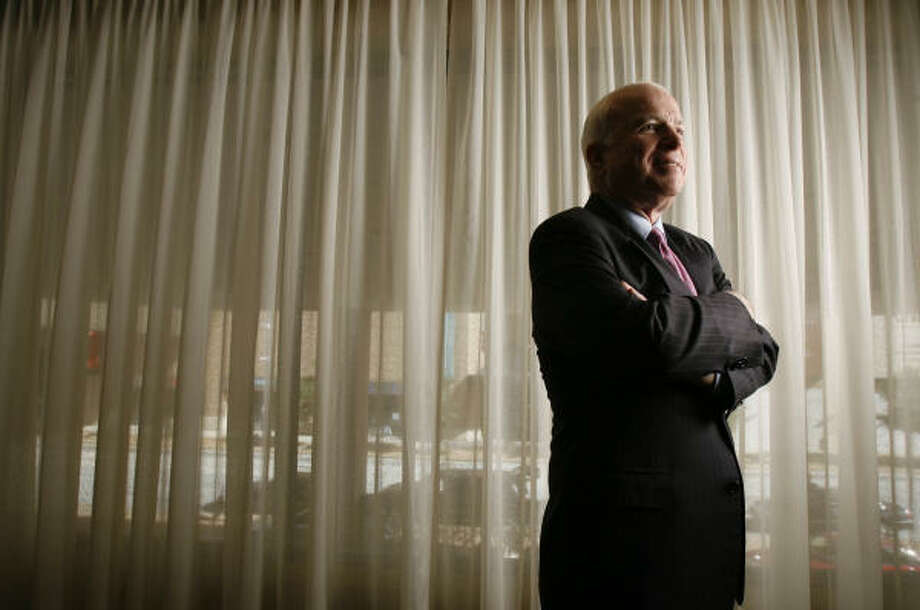 U.S. Sen. John McCain of Arizona, a probable Republican presidential candidate, is shown at the Four Season Hotel today in Houston. Photo: KAREN WARREN, Houston Chronicle