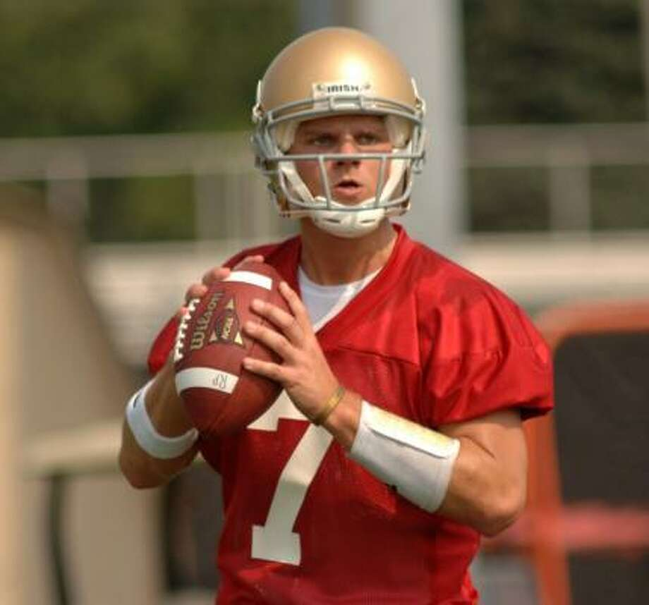 Notre Dame freshman QB Jimmy Clausen was cited for transporting alcohol on June 23. Photo: Joe Raymond, AP