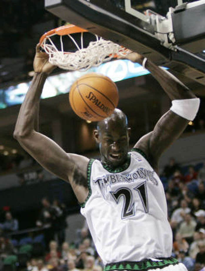 Once a staple with the Timberwolves, Kevin Garnett is now part of a Celtics team that wants to return to greatness. Photo: Jim Mone, AP