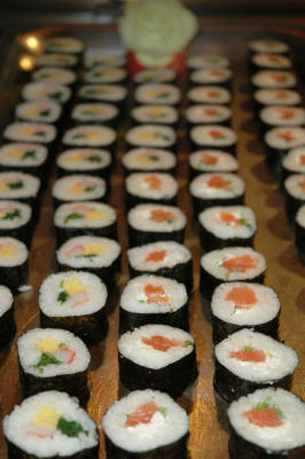 As an alternative to feasting in the main restaurant aboard a Celebrity Cruises ship, or as a pre-dinner appetizer, guests can enjoy several varieties of sushi each evening. Photo: Harry Shattuck, Chronicle