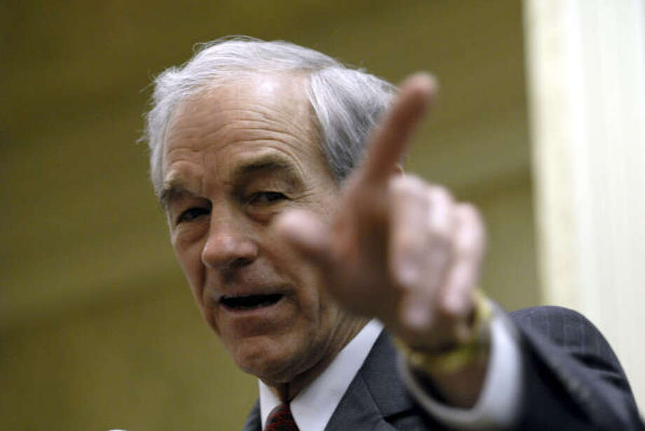 Rep. Ron Paul, R-Texas, campaigns in Kenner, La., on Monday. Photo: Cheryl Gerber, Associated Press