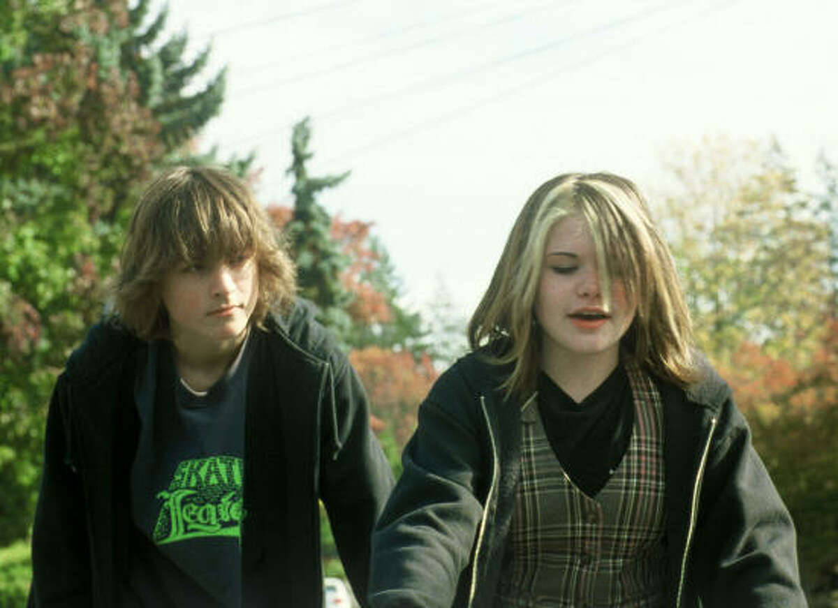 Gabe Nevins portrays Alex, left, and Lauren McKinney portrays Macy in Paranoid Park.