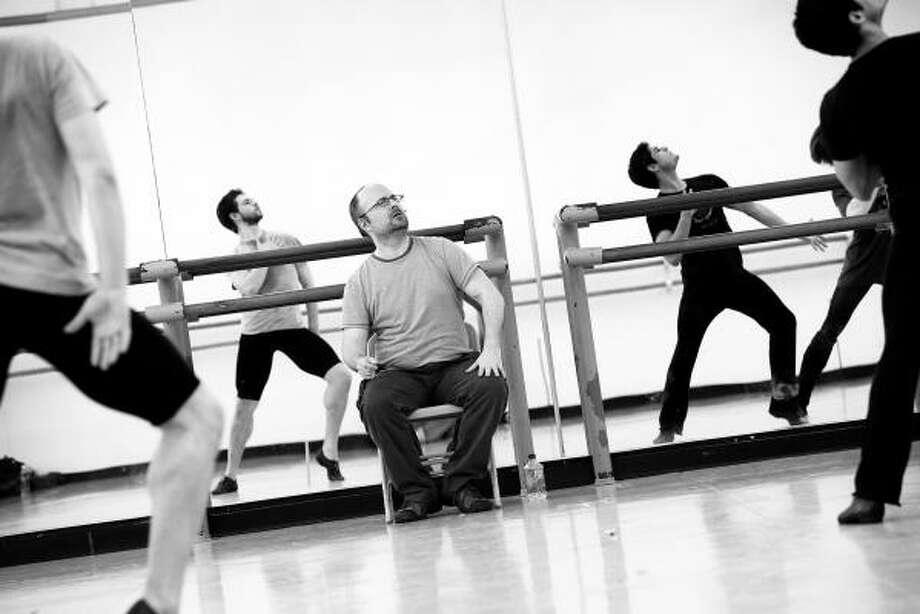 Canadian chreographer James Kudelka rehearses Little Dancer at Houston Ballet studios. Photo: AMITAVA SARKAR