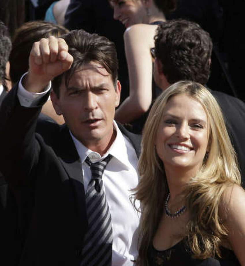Charlie Sheen married fiance Brooke Mueller Friday night, said publicist Stan Rosenfield. Photo: Kevork Djansezian, Associated Press File
